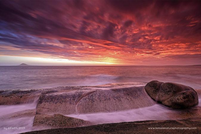 Storm at Sunset, Tasmania Australia