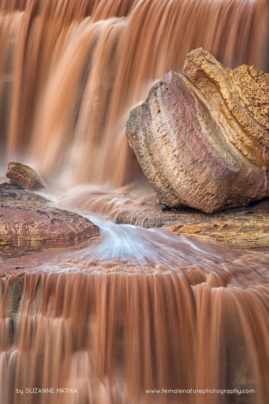 Chocolate Falls - The usually dry Grand falls area flows like a chocolate fountain after a heavy storm season.