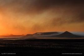 Namibian Skeleton coast. Mountains at horizon, Namibia