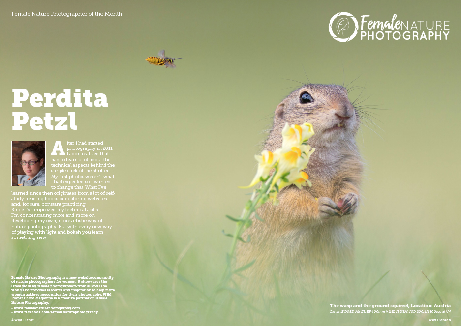 Female Nature Photographer of the Month - Perdita Petzl