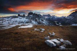 Giant's Dice Game ; Italian Alps