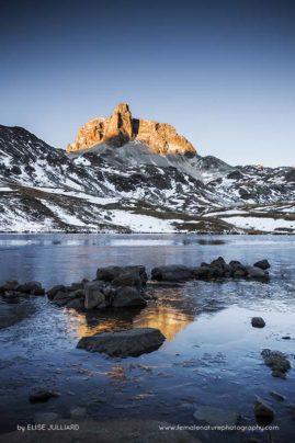 Glacier des Volnets sous les braises du coucher de soleil