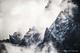 Détails sur les aiguilles de Chamonix