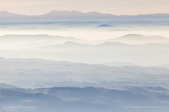 Evening view - Auvergne pastel