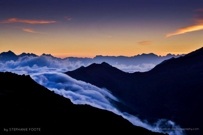 Wilderness - Clouds rolling over the Alps, photographed from the famous Lac Blanc