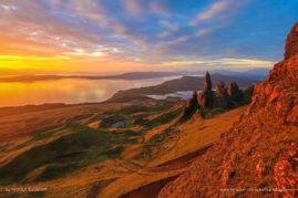 Old man waking - Isle of Skye