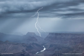 River of Sky-River of Earth - Monsoon lightning over the Colorado River on the South Rim of the Grand Canyon