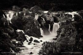 Impressive Great Epupa waterfalls in Namibia.