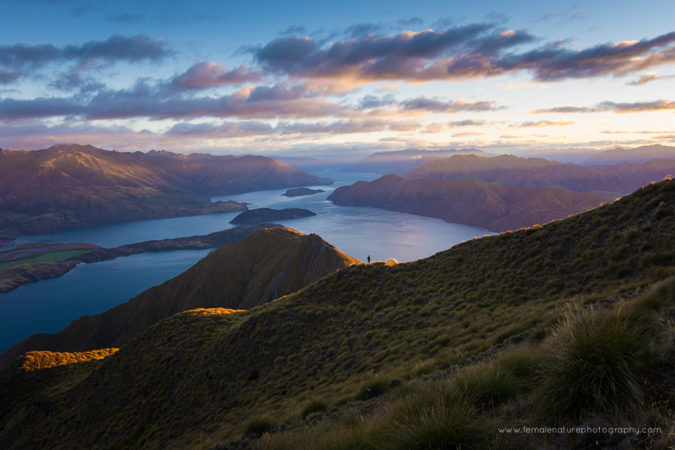 Lake Wanaka from Roys Peak, Pisa Conservation Area, New Zealand