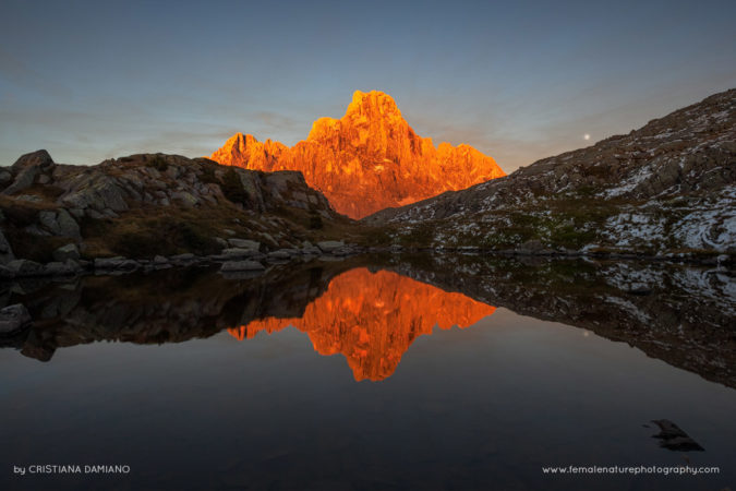 Alpenglow in the Dolomites