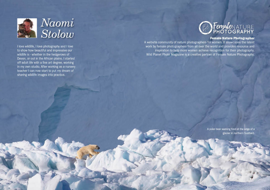 Female Nature Photographer of the month of April in Wild Planet Photo Magazine