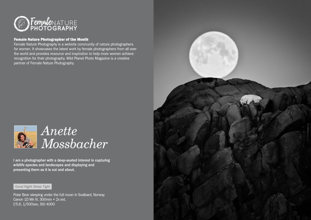 Female Nature Photographer of the Month - September 2018 - Anette Mossbacher