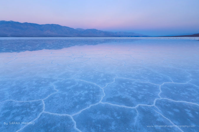 Twilight, Badwater Basin - Death Valley National Park,