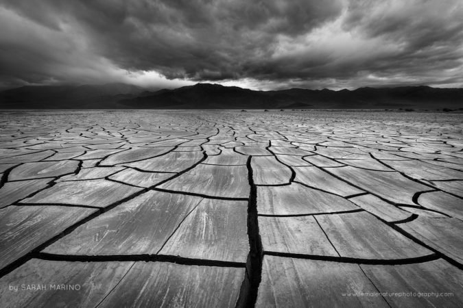 Spring Storm over Mud Cracks Death Valley National Park